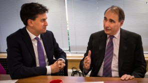 Ed Miliband with David Axelrod